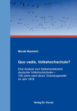 Quo vadis, Volkshochschule? von Numrich,  Nicole