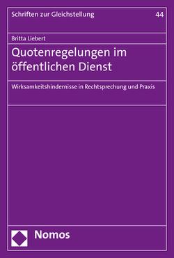 Quotenregelungen im öffentlichen Dienst von Liebert,  Britta
