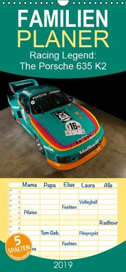 Racing Legend: The Porsche 635 K2 – Familienplaner hoch (Wandkalender 2019 , 21 cm x 45 cm, hoch) von Bau,  Stefan