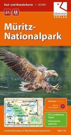 Rad- und Wanderkarte Müritz-Nationalpark von Goerlt,  Heidi, Klemmer,  Klaus, Kuhlmann,  Christian, Wachter,  Thomas
