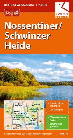 Rad- und Wanderkarte Nossentiner/Schwinzer Heide von Goerlt,  Heidi, Klemmer,  Klaus, Kuhlmann,  Christian, Wachter,  Thomas