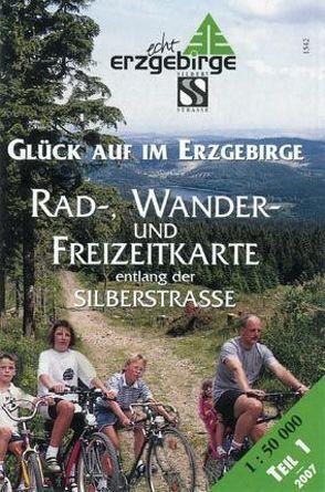 Rad-, Wander- und Freizeitkarte entlang der Silberstraße – Teil 1