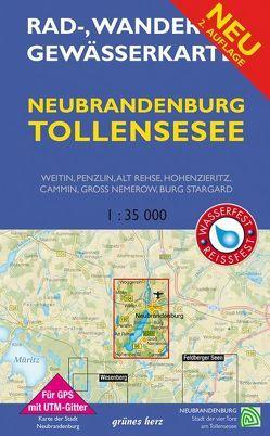 Rad-, Wander- und Gewässerkarte Neubrandenburg, Tollensesee