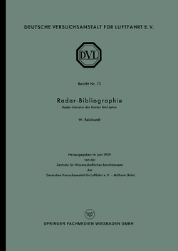 Radar-Bibliographie von Reinhardt,  Wolfgang
