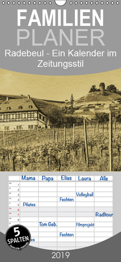 Radebeul – Ein Kalender im Zeitungsstil – Familienplaner hoch (Wandkalender 2019 , 21 cm x 45 cm, hoch) von Kirsch,  Gunter