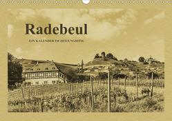 Radebeul – Ein Kalender im Zeitungsstil (Wandkalender 2021 DIN A3 quer) von Kirsch,  Gunter