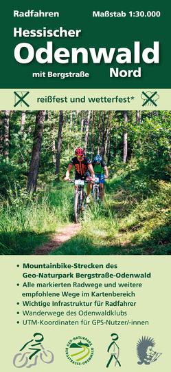 Radfahren, Hessischer Odenwald Nord mit Bergstraße von Messer,  Michael