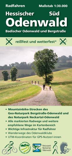 Radfahren, Hessischer Odenwald Süd mit Bergstraße von Messer,  Michael