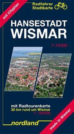 Radfahrer Stadtkarte Hansestadt Wismar von Kast,  Peter