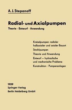 Radial- und Axialpumpen von Haltmeier,  Alexander, Stepanoff,  Alexey Joakim