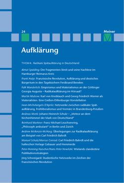 Radikale Spätaufklärung in Deutschland von Kreimendahl,  Lothar, Mulsow,  Martin, Naschert,  Guido, Vollhardt,  Friedrich