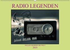 RADIO LEGENDEN (Wandkalender 2019 DIN A2 quer) von Voßen - Herzog von Laar am Rhein,  W.W.