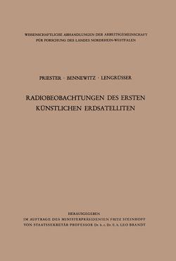 Radiobeobachtungen des ersten künstlichen Erdsatelliten von Priester,  Wolfgang
