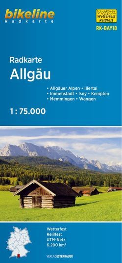 Radkarte Allgäu (RK-BAY18) von Esterbauer Verlag