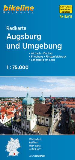 Radkarte Augsburg und Umgebung (RK-BAY15) von Esterbauer Verlag