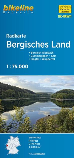 Radkarte Bergisches Land (RK-NRW11) von Esterbauer Verlag