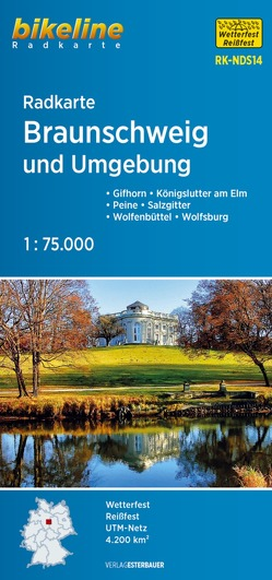 Radkarte Braunschweig und Umgebung (RK-NDS14) von Esterbauer Verlag