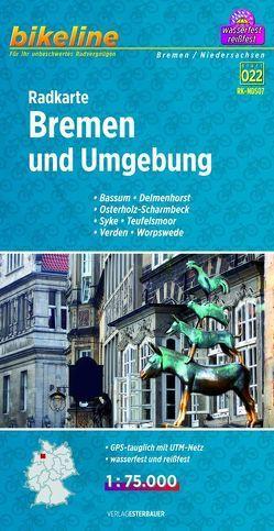 Radkarte Bremen und Umgebung (RK-NDS07) von Esterbauer Verlag