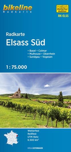 Radkarte Elsass Süd von Esterbauer Verlag