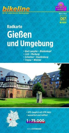 Radkarte Gießen und Umgebung (RK-HES03) von Esterbauer Verlag