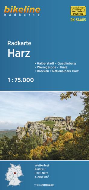 Radkarte Harz (RK-SAA05) von Esterbauer Verlag