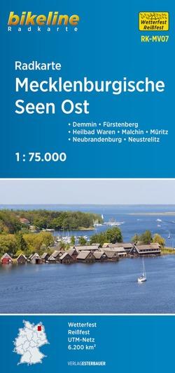 Radkarte Mecklenburgische Seen Ost (RK-MV07) von Esterbauer Verlag