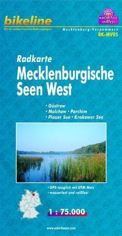 Radkarte Mecklenburgische Seen West (RK-MV05) von Esterbauer Verlag
