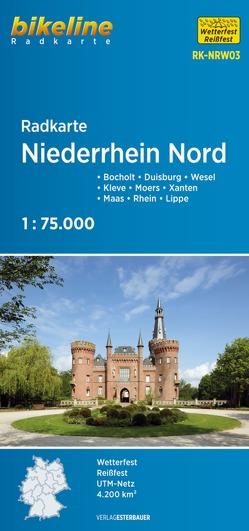 Radkarte Niederrhein Nord (RK-NRW03) von Esterbauer Verlag