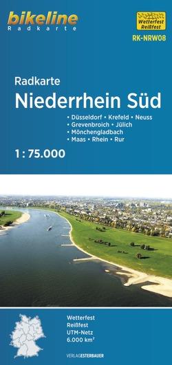 Radkarte Niederrhein Süd (RK-NRW08) von Esterbauer Verlag
