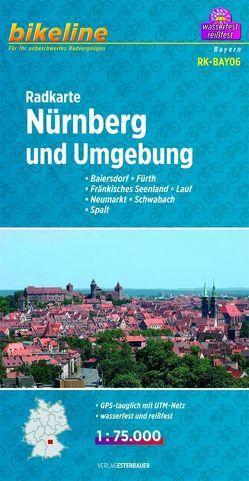 Radkarte Nürnberg und Umgebung (RK-BAY06) von Esterbauer Verlag