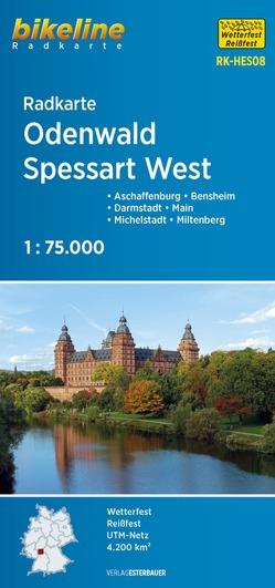 Radkarte Odenwald Spessart (RK-HES08) von Esterbauer Verlag