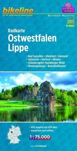 Radkarte Ostwestfalen Lippe (RK-NRW07) von Esterbauer Verlag
