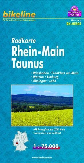 Radkarte Rhein-Main-Taunus (RK-HES04) von Esterbauer Verlag