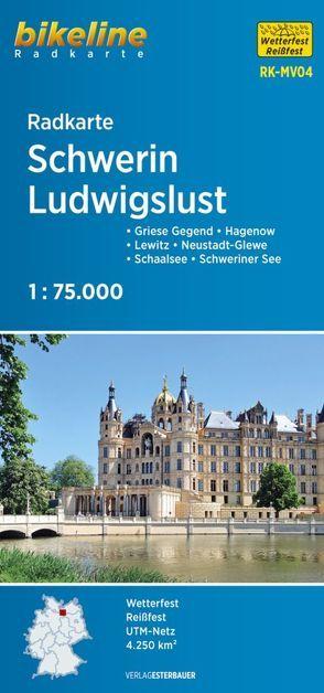 Radkarte Schwerin Ludwigslust (RK-MV04) von Esterbauer Verlag