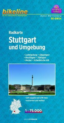 Radkarte Stuttgart und Umgebung (RK-BW04) von Esterbauer Verlag