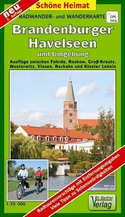 Radwander- und Wanderkarte Brandenburger Havelseen und Umgebung