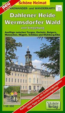 Radwander- und Wanderkarte Dahlener Heide, Wermsdorfer Wald und Umgebung