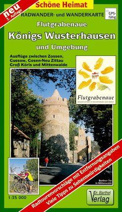 Radwander- und Wanderkarte Flutgrabenaue, Königs Wusterhausen und Umgebung