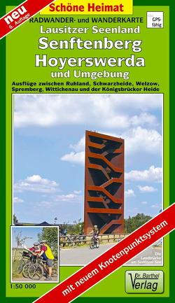 Radwander- und Wanderkarte Lausitzer Seenland, Senftenberg, Hoyerswerda und Umgebung