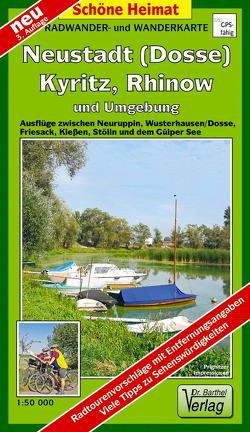 Radwander- und Wanderkarte Neustadt (Dosse), Kyritz, Rhinow und Umgebung