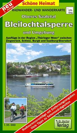 Radwander- und Wanderkarte Oberes Saaletal, Bleilochtalsperre und Umgebung