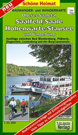 Radwander- und Wanderkarte Oberes Saaletal, Saalfeld/Saale, Hohenwartetalsperre und Umgebung