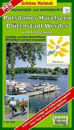 Radwander- und Wanderkarte Potsdamer Havelseen, Blütenstadt Werder und Umgebung