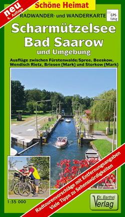 Radwander- und Wanderkarte Scharmützelsee, Bad Saarow und Umgebung