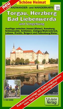 Radwander- und Wanderkarte Torgau, Herzberg, Bad Liebenwerda und Umgebung