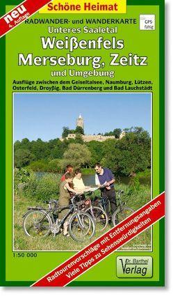 Radwander- und Wanderkarte Unteres Saaletal, Weißenfels, Merseburg und Umgebung