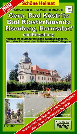Radwander- und Wanderkarte Wälder um Gera, Eisenberg, Hermsdorf und Umgebung