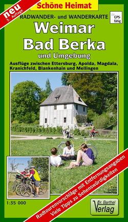 Radwander- und Wanderkarte Weimar, Bad Berka und Umgebung