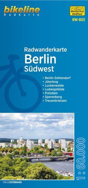 Radwanderkarte Berlin Südwest (RW-B03) von Esterbauer Verlag