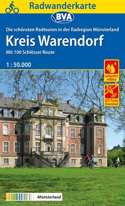 Radwanderkarte BVA Radregion Münsterland Kreis Warendorf mit 100 Schlösser Route 1:50.000, reiß- und wetterfest, GPS-Tracks Download
